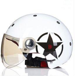 $enCountryForm.capitalKeyWord Australia - 2018 Summer Breathable Electric Motorcycle Helmet Half face Light Retro style Electric bicycle safety caps