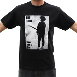 wholesale rock band t shirts UK - The Cure Boys Dont Cry Rock Band Graphic T-Shirts