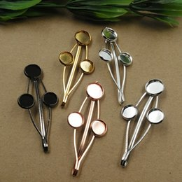 Fit Clips Australia - 20pcs 65MM Fit 12MM Metal barrettes antique bronze bobby pin girl's hairpin base hairclip blank hair clip tray hairwear women jewelry