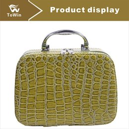 box handbags NZ - Brand New Design Cosmetics Case Hign Quality Synthetic Leather Makeup Boxes Fashion Solid Color Stone Pattern Lady Storage Handbag Wholesale