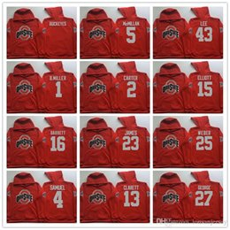 04889df45 2 Carter 4 Samuel 23 James 25 Weber 27 George 45 Griffin Ohio State Buckeyes  Men Jerseys Hoodie Hooded Sweatshirt Jackets Jersey