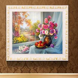 $enCountryForm.capitalKeyWord Australia - DIY full drill oil painting flower diamond painting vase apple mosaic cross stitch wild autumn landscape new wall decoration painting
