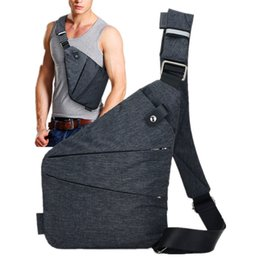 chest pouches Australia - Summer ultra-thin Men's Chest Bag Anti-theft Sling Pack Male Travel Leisure Shoulder Crossbody Messenger Bag Phone Key Pouch New