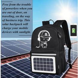 $enCountryForm.capitalKeyWord Australia - FIRECLUB Solar Panel Backpack Convenience Charging Laptop Bags for Travel Solar Charger Daypacks New Fashion Simple Design