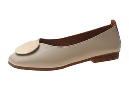 $enCountryForm.capitalKeyWord UK - free shipping Spring summer 2019 new low-cut metallic round buckle flat bottom comfort fairy single shoe
