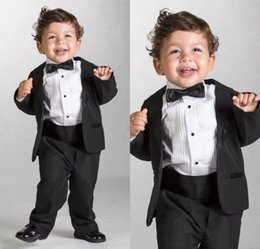 tuxedos for kids Australia - 2020 Handsome Black Boys Formal Wear Jacket Pants 2 Pieces Set Suits for Wedding Dinner Children Kids Tuxedos