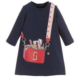 Long Sleeve Full Length Dresses UK - Baby Girl Long Sleeve Dress 100% Cotton Party Dress for Kids Designer Clothes Casual Autumn Outfit
