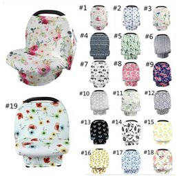 $enCountryForm.capitalKeyWord Australia - Ins Baby Nursing Cover Breast Feeding Cover 19 styles Baby Carseat Canopy Stroller Canopy Stretchy Stroller Seat Cover Baby Wraps
