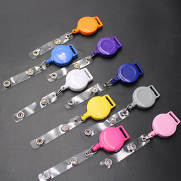 Wholesale 2019 Mini Retractable Badge Reel Nurse Lanyards ID Name Card Badge Holder Clip Student Nurse Badge Holder Office Bank Credit Card M445Y