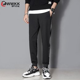 men hip hop new fashion trends NZ - WWKK Fashion Brand Men Casual Sweatpants New Street trend Male Solid color Drawstring Pants Men's Hip Hop Ankle-Length Pants