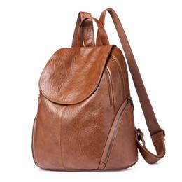 da3d950a63 Fashion New Travel Backpack Korean Women Female Rucksack Leisure Student  School Bag Soft PU Leather Women Bag