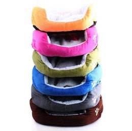 large pet blankets Australia - 7 Colors New Pet Dog Bed Winter Warm Lambskin Dog House For Small Large Dogs Soft Pet Nest Kennel Cat Sofa Mat Animals Pad Pet Supplies S L