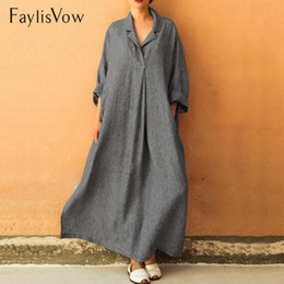 $enCountryForm.capitalKeyWord Canada - Shawl Collar Shift Shirt Dress Women Elegant Loose V Neck Long Sleeve Maxi Dresses Autumn Plus Size Dress 5xl Clothes Vestidos