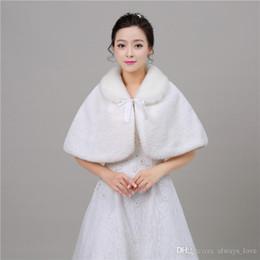 $enCountryForm.capitalKeyWord Canada - 2019 Fashion Cheap In Stock Bridal Faux Fur Wedding Wrap Cape Shawl Jackets Coat Bolero Tippet Stole Special Occasion PJ005