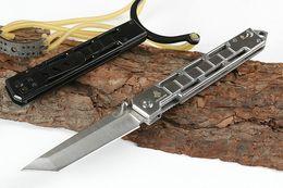 $enCountryForm.capitalKeyWord Australia - On sale! JL-17 Tactical Folding Knife 440C Satin Tanto Blade Stainless Steel Handle Outdoor EDC Pocket Knives With Retail Box