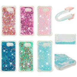 Love Heart Phone Australia - Soft Fashion Love Heart Quicksand Liquid Glitter Silicone Phone Case for Samsung J2 2018 Air Cushion Corner Shockproof 05