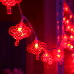 $enCountryForm.capitalKeyWord Australia - Special Purchases For The Spring Festival Purchase Led Coloured Lights Flashing Light Baby's Breath China Form Pendant Lantern Lamp String