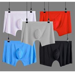 5ce72d5ae615 Men Seamless Boxer Australia - Men Underwear Shorts Ice Silk Seamless U  Convex Design Very Soft