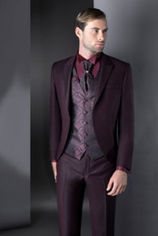 Navy Suits For Sale Australia - Fashion New Brand Designer Classic Purple Wedding Bridegroom Suits Two Pieces (Jackets+Pant) Official Business Tuxedos For Sale