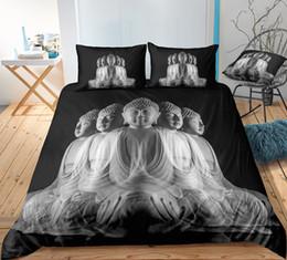 $enCountryForm.capitalKeyWord Australia - Thumbedding Dropship White Faceted Buddha Bedding Sets Buddha Twin Full Queen King Single Double 3D Duvet Cover with Pillowcase