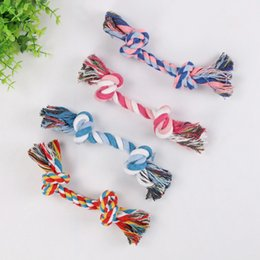 braided cotton rope wholesale NZ - New cotton rope Pet Dog Toys Puppy Cotton Chew Knot Durable Braided Bone Rope Pets Cat Toy For Small Dogs Pet Supplies