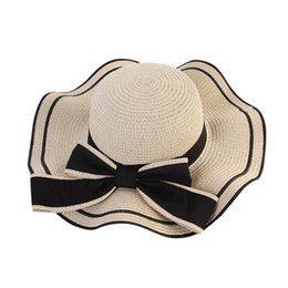 4bc69f2265a Super Wide Brim Straw Hat Summer Female Hat Ladies Beach Sun visor Panama hats  women summer Natural Straw Boater Hats 2019