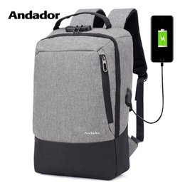 $enCountryForm.capitalKeyWord Australia - Fashion Men 15.6 Inch Usb Charging Anti Theft Business Laptop Backpack Larger Capaticy Multifunction Travel Backpack Bags Y19061004