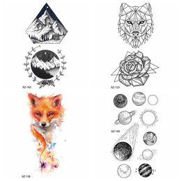 b2242f38aaf39 Wolf Tattoos Arms Canada - Women Small Planet Temporary Tattoo Sticker Arm  Fake Tatoos Diamond Timber