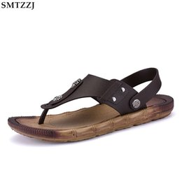 Wholesale SMTZZJ brand New Arrival Summer Men Flip Flops High Quality Beach Sandals Non slip Male Slippers Zapatos Casual Shoes Men