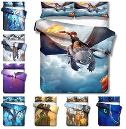 Dragon Home Australia - How To Train Your Dragon Design Bedding Set 2PC 3PC Duvet Cover Set Of Quilt Cover & Pillowcase