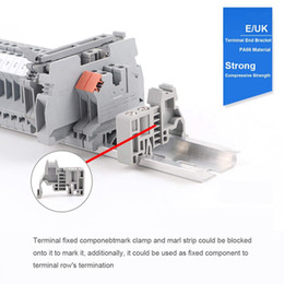 ground blocks NZ - Freeshipping Rail Terminal Blocks Kit Uk5N Terminal +Ground Blocks+Aluminum Rail+D-Uk End Covers+E Uk End Brackets+Bridge Jumpers Kits