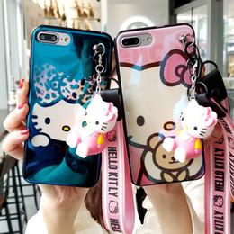 $enCountryForm.capitalKeyWord Australia - For iPhone X Hello kitty case, Cute KT Soft back cover For iPhone 8 8plus 7 7plus 6 6S 6Splus blue ray phone cover + toy +StrapS