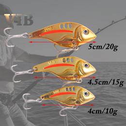 Fishing Lures Suspend Australia - New Metal VIB Fish Blade Baits 4cm-10g 4.5cm-15g 5cm-20g suspended baitfish vibrations jigging Fishing Lure