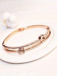 $enCountryForm.capitalKeyWord Australia - New fashion ins luxury designer multi layer super glittering diamond rose gold bangle bracelet for woman girls 19cm