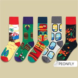 Wholesale fresh books for sale – custom Fresh Harajuku Print Socks Women And Men Funny Books Bears Colorful Socks Casual Happy Kawaii Cotton Calcetines Mujer pairs