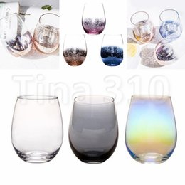 China New Lead-free Crystal Egg Cup Wine Glass Tumbler Modern Large Capacity Ion-plated Rainbow Transparent Household cups 4760 supplier led cups wholesale suppliers