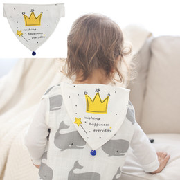 Cotton Soft Muslin NZ - Baby Sweat Towel Infant Soft Back Dry Wipe Muslin Cotton Baby Back Gauze Absorb 100% Cotton 5 Layers Sweat Towel for 0-5 years