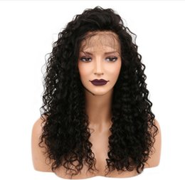 Water Waves Human Hair Australia - Slayedwig 150% Density Water Wave Brazilian Full Lace Human Hair Wigs With Baby Hair For Women Pre Plucked Lace Wig Remy Hair
