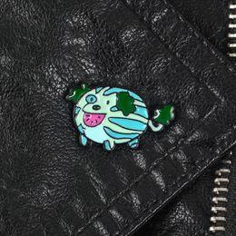 Plastic Dog Glasses Australia - Steven Universe Watermelon Pup Puppy Dog Pin Soft Enamel Pin Kawaii Gifts Cartoon Metal Brooch for Coat Jackets Bag Pin