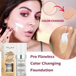 Sun Blocks Australia - DHL Free Shipping Flawless Color Changing Foundation Makeup Base Nude Face Liquid Cover Concealer Long Lasting Pre Makeup Sun Block Pores