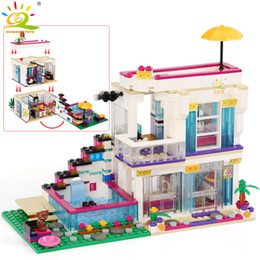 $enCountryForm.capitalKeyWord Australia - 760PCS Pop Star Girls House Building Block Compatible Friend For Girls figures Bricks Educational Toys for children SH190910