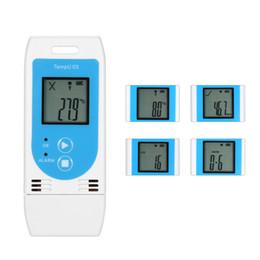 Digital Temperature Rh Meter Australia - USB Temperature Data Logger Reusable RH TEMP Digital Temperature Sensor Termometro Recorder Humidity Recording Meter