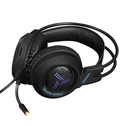 Pc Channel Audio Australia - Game Headphone Music Audio Big Earphone Headphones With Mic V2000 Gaming Headset 7.1 Channel 3.5mm Jack Stereo for PC Computer