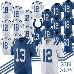 Discount 12 13 jersey - Indianapolis 12 Andrew Luck Jerseys Colts 13 T.Y. Hilton 18 Peyton Manning 53 Darius Leonard Peyton Manning Jersey Top q