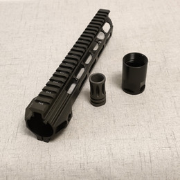 Wholesale 7 10 12 15 Inch M4 M16 AR15 Free Float mlok Quad Rail Handguard Picatinny Rail with steel Barrel Nut