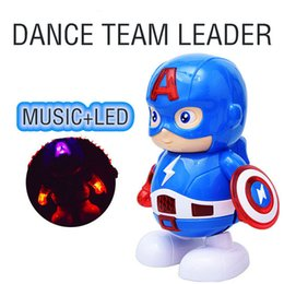 Figures Australia - Dance Hero Captain America Avengers Action Figures Doll Iron Man Dancing Robot With Music Children Gifts