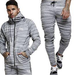 Body Fitness Suit Australia - 2018 Sportswear Tracksuits Men Sets Running Gyms Tracksuit Fitness Body building Mens Hoodies+Pants Jogger Suit Men Clothing Set