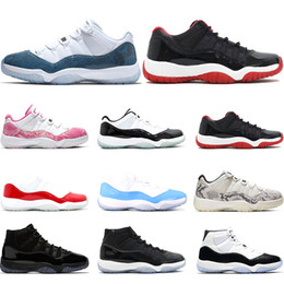 RetRo 11s black Red online shopping - 2020 Air Retro jordan Basketball Shoes s Snakeskin VAST GREY Concord GAMMA BLUE Bred womens sports sneaker trainers