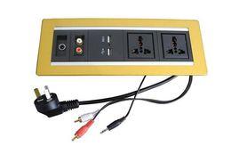 $enCountryForm.capitalKeyWord Australia - RCA 3.5 Audio HDMI USB internet VGA universal power socket silver golden black aluminum wall socket plate customized