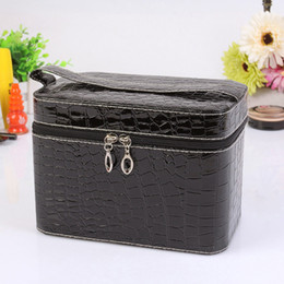 $enCountryForm.capitalKeyWord Australia - New Arrival Women Crocodile Pattern PU Leather Makeup Case Cosmetic Storage Box Large Capacity Bag Beauty Tool